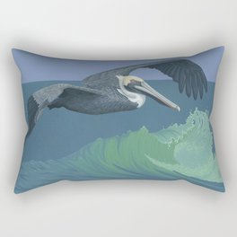 Brown Pelican Rectangular Pillow