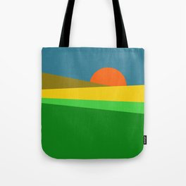 Sunset on the Field Tote Bag