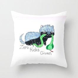 Honey Badger Zero F_ _ _ S Given Throw Pillow