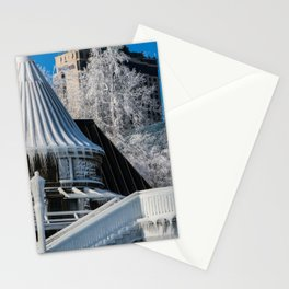 to the ice castle Stationery Cards