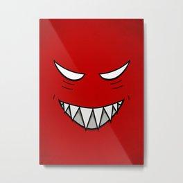 Evil Grin Evil Eyes Metal Print