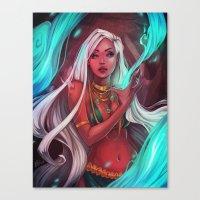 siren Canvas Prints featuring Siren by Ellen Su