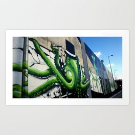 """Green Octopus"" Art Print"