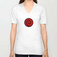 naruto V-neck T-shirts featuring NARUTO SUIT by Bilqis