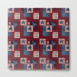 Creative patchwork. Star. The creative pattern. Metal Print