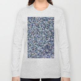 Blue Glittering Sequins Long Sleeve T-shirt