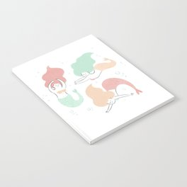 Colorful mermaids Notebook