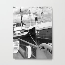 Docked, Seattle Wa Metal Print