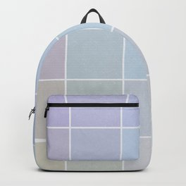 Pastel Square Gradient Pattern Backpack