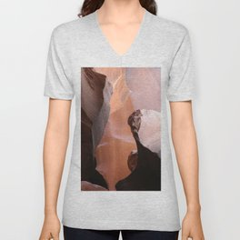 Natures Marvelous Composition - Antelope Canyon Shapes Unisex V-Neck