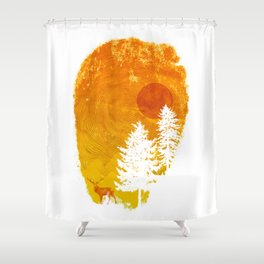 Nature's print Shower Curtain