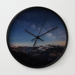 Clouds Rest Night Wall Clock