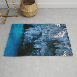 NATURE'S WONDER #3 - BLUE GROTTO #art #society6 Rug