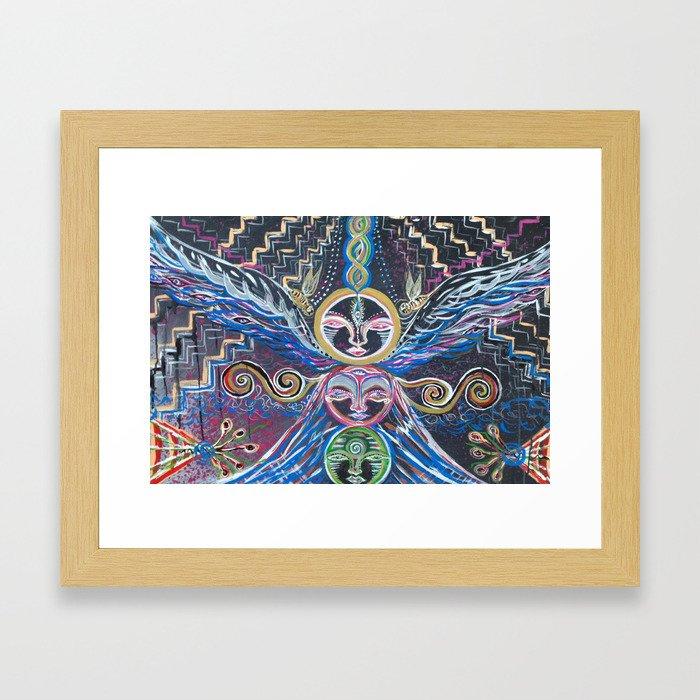 spirit totem Framed Art Print