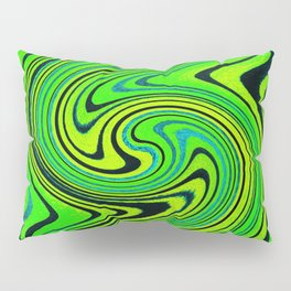 Lemon Lime Groove Watercolor Pillow Sham