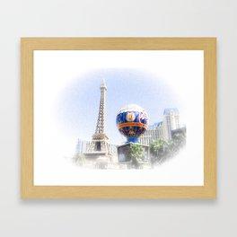 Las Vagas Paris Framed Art Print