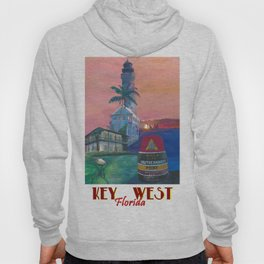 Key West Florida Southernmost Dreams Retro Travel Vintage Poster Hoody