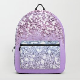 Sparkly Unicorn Lilac Glitter Ombre Backpack