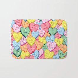 Candy Hearts Multicolour Bath Mat