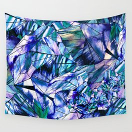 Crystal Blue Sapphire Gem Wall Tapestry