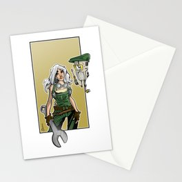 mecha girl Stationery Cards