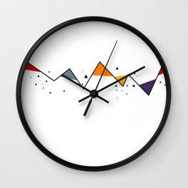 Geometric Mountains Wall Clock
