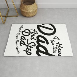 World's Best Step Dad Funny Father Day Gift Rug