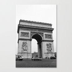 Arc de Triomphe Noir Canvas Print