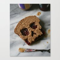 88. Peanut Butter and Skully Canvas Print