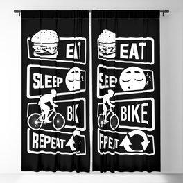 Eat Sleep Bike Repeat - Bicycle Racing Cycling Blackout Curtain