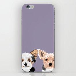 Two Yorkies iPhone Skin