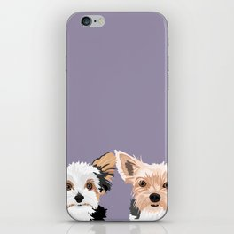 Two Yorkies iPhone Skin