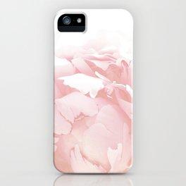 Beautiful Blush Cotton Peony iPhone Case