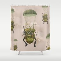 military Shower Curtains featuring Military by Tanya_tk