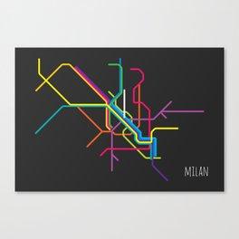 milan metro map Canvas Print