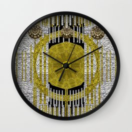 Gold and silver is the way to heavenly feelings Wall Clock