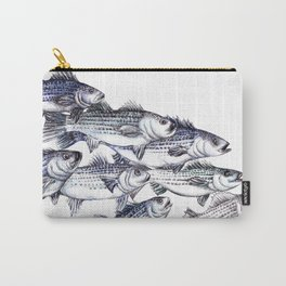 """""""Old School"""" Striped Bass  Carry-All Pouch"""
