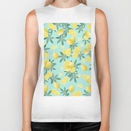 Lemon Twist Vibes #4 #tropical #fruit #decor #art #society6 Biker Tank