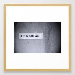 from chicago Framed Art Print