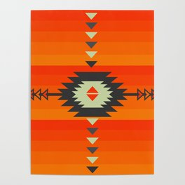 Southwestern in orange and red Poster
