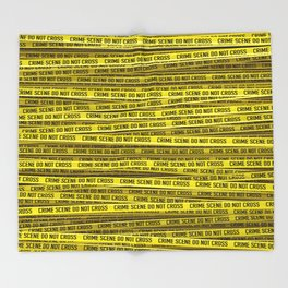 Crime scene / 3D render of endless crime scene tape Throw Blanket