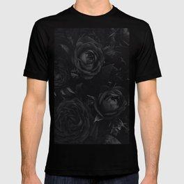 Black Rose Pattern T-shirt