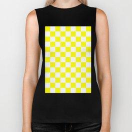 Checker (Yellow/White) Biker Tank