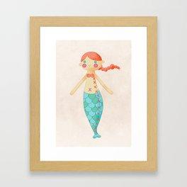 Mermaid doll Framed Art Print