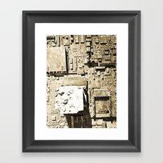 City Ruins Framed Art Print