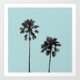 Blue palm beach Art Print