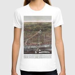 Brooklyn map vintage T-shirt