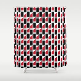Lipstick Junkie - Classic Red Shower Curtain