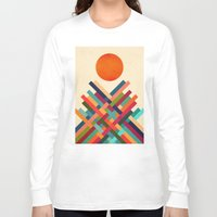 sun Long Sleeve T-shirts featuring Sun Shrine by Picomodi