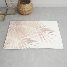 Rose Gold Palm Leaves Dream - Cali Summer Vibes #1 #tropical #decor #art #society6 Rug